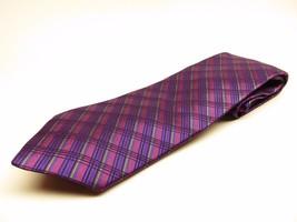Nicole Miller New York Tie Allover Pattern 100% Silk Necktie Made in China - $23.72