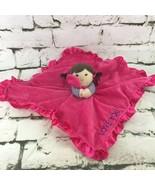 Carters LOVE YOU Plush Doll Pink Lovie Soft Corfort Crib Toy Mini Blankie - $14.84
