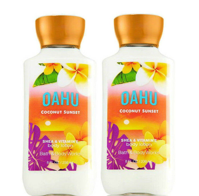 Primary image for BATH & BODY WORKS Oahu Coconut Sunset 8.0 Fluid Ounces Body Lotion Duo Set