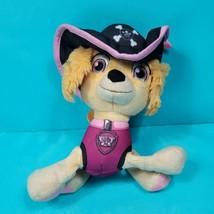 Paw Patrol Pirate Pups Skye Plush Floppy Pink Girl Stuffed Animal Spin M... - $17.81