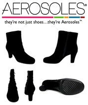 Aerosoles Women's Good Role Suede Booties Black Ankle Boots Size US 9.5 ... - $55.17