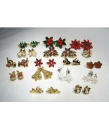 Vintage Lot Christmas Jewelry Brooch Earrings Watch Necklace C2835 - $193.33