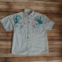Amrav Women Shirt 100% Cotton Size Medium - $9.65