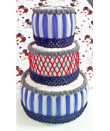 Red , Grey and Blue Disney Mickey MouseThemed Baby Shower 3 Tier Diaper ... - $40.00