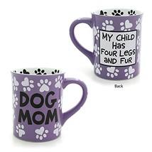 """Enesco 4026112 Our Name is Mud """"Dog Mom, 16 oz. Stoneware Mug, 16 Ounces... - $16.97"""