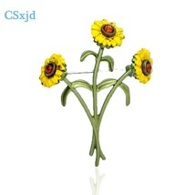 CSxjd Vintage Broochs jewelry Sunflower brooch flower women jewelry gift 2020 Ne - $13.24