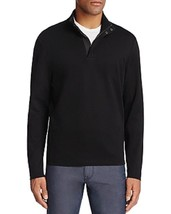 HUGO BOSS SIDNEY BLACK  HALF ZIP MOCK NECK SWEATER XL - $88.11