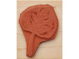Rubber Stampede Aspen Leaf Wood Mounted Rubber Stamp #271D image 2