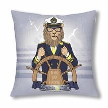 "InterestPrint? Lion Captain Throw Pillow Cover 18""x 18""(Twin Sides) - $283,25 MXN"