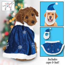 Velvet Winter Snowflake Dog Christmas Outfit, Large - $13.29