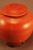 RAKU Unique Ceramic Companion Small/ Keepsake Funeral Cremation Urn #I003 image 2