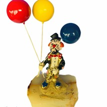 Ron Lee Clown figurine signed sculpture balloons circus carnival marble ... - $94.05