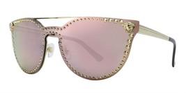 NEW VERSACE 45 mm Cat Eye Medusa Sunglasses VE2177 12524Z Gold Pink - $176.40
