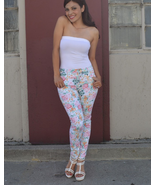 Slim fit high waist floral jeans - $14.75