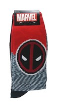 Marvel DeadPool Socks 2-pair sz M/L Medium/Large (6-12) Red Black - $16.99