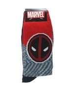Marvel DeadPool Socks 2-pair sz M/L Medium/Large (6-12) Red Black - $16.99