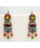 Signed ADAYA Maya Micro Mosaic Earrings - $54.00