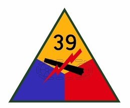 39th Armored Division Sticker Military Decal M372  - $1.45+
