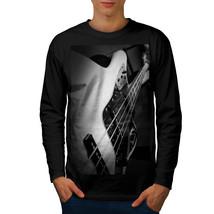 Bass Guitar Jazz Music Tee Instrument Men Long Sleeve T-shirt - $14.99