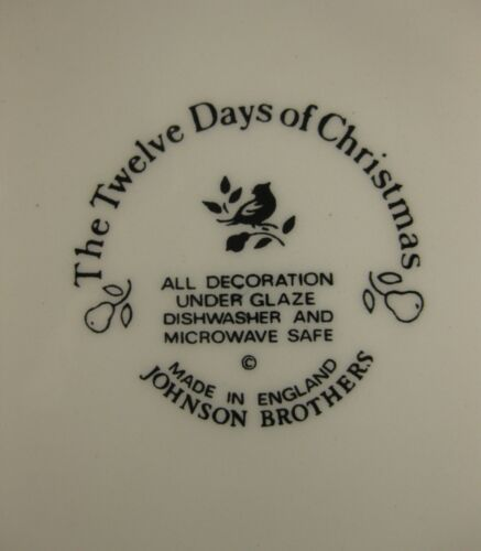 Nine Ladies Dancing Salad Plate Johnson Brothers Twelve Days of Christmas  image 3