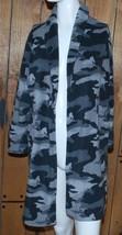 Sonoma Boys Robe Fleece Ties Gray Black Camo Pockets Youth Medium 8/10 8... - $14.80