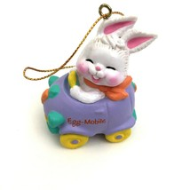 Vintage Easter Avon Eggspression Egg Car Mobile Ornament Bunny Rabbit in... - $12.86