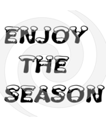 Enjoy the Season Font 3smp-Digital ClipArt-Gift Tag-T shirt-Jewelry-Holiday - $2.50