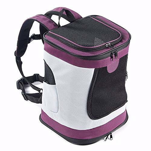 YujueShop Soft-Sided Pet Travel Carrier with Mesh Windows and Fleece Padding for