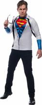 Rubies DC Comics Superman Photoreal Top Adult Mens Halloween Costume 821139 - $25.35