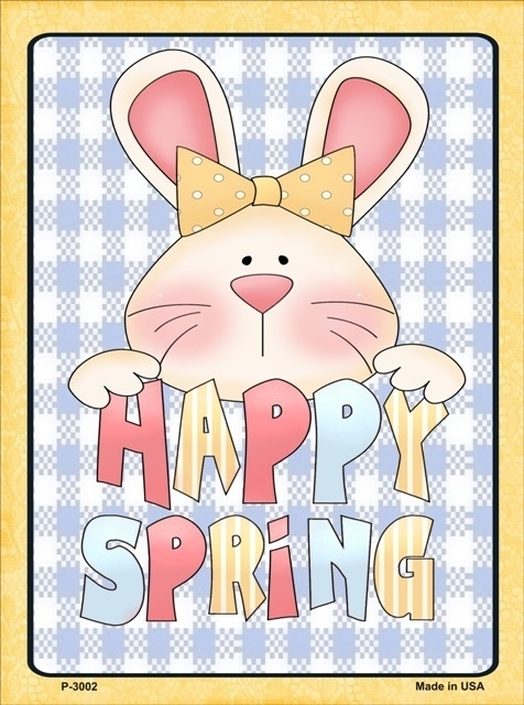 "Happy Spring Holiday Metal Sign 9"" x 12"""