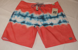 Men's Billabong Lo-Tides board shorts swim surf skate boardshorts 34 red... - $38.60