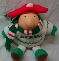 """VINTAGE """"JOLLY HOLIDAYS"""" ZIGGY IN SWEATER & SCARF 5"""" Plush Stuffed DOLL TOY - $14.85"""