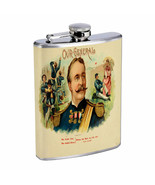 Vintage Cigar Box Poster D16 Flask 8oz Stainless Steel Hip Drinking Whiskey - $13.81