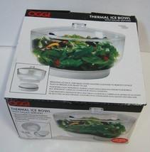 Oggi 5522 Thermal Bowl Color Clear Salad Servers Removable Freezer Pack image 2