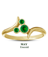 Round Cut Green Emerald May Birthstone Yellow Gold 925 Silver Mickey Mou... - $25.99