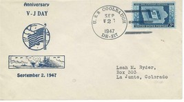 COOLBAUGH (DE-217) 2 Sep 1947 2nd Anniversary V-J Day - $4.95