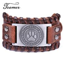 Teamer 12 Styles Wolf Paw Rune Charm Bracelets Men Slavic  Amulet Jewelr... - $10.82