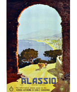 """11x14""""Poster on Canvas.Home Room Interior design.Travel Italy.Alassio.6513 - $28.05"""
