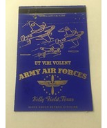 Vintage Matchbook Cover Matchcover US Army Air Forces Kelly Field Texas TX - $5.56