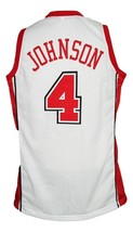 Larry Johnson #4 College Basketball Jersey Sewn White Any Size image 2