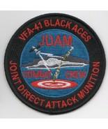 USAF AIR FORCE VFA-41 JDAM ROUND COMBAT CREW BLACK ACES EMBROIDERED JACK... - $18.99
