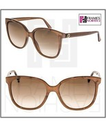 GUCCI 3819 Brown Mother of Pearl Square Oversized Gradient Sunglasses GG... - $284.13