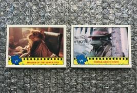 1990 Topps Teenage Mutant Ninja Turtles TMNT Movie Trading Cards Lot: #17 & #19 - $3.13