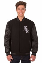 Chicago White Sox Wool & Leather Reversible Jacket with Embroidered Logo... - $249.99