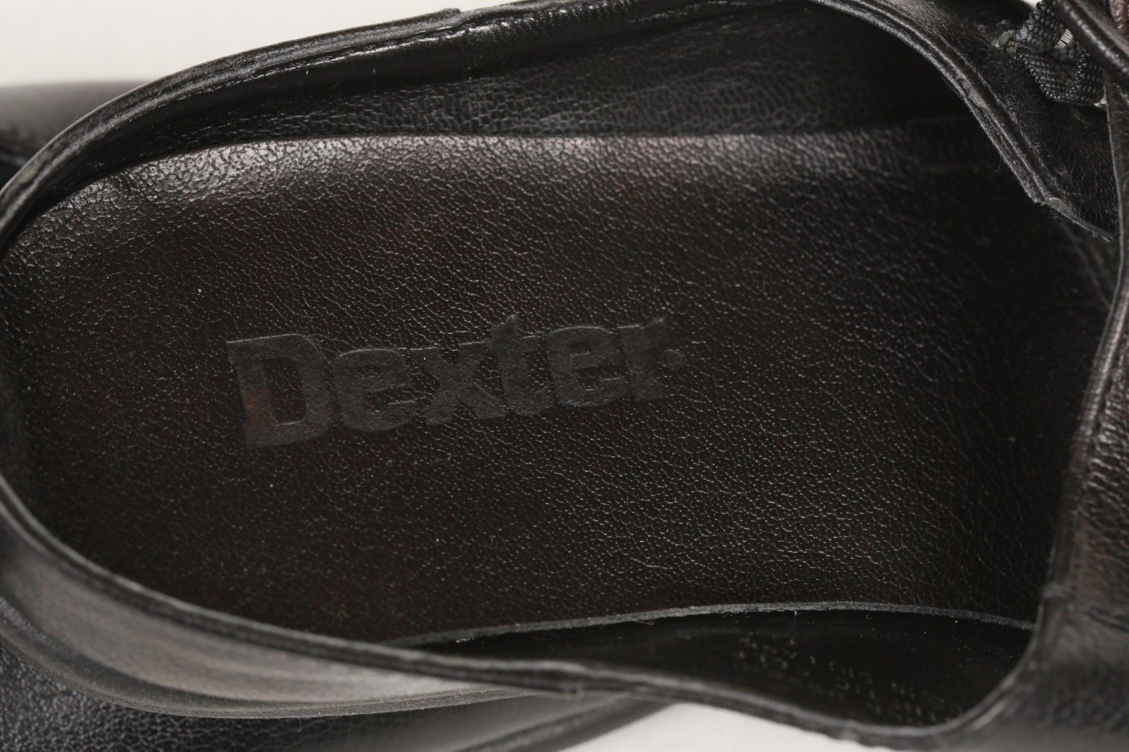 DEXTER Women's Black Leather Mules Slip on Clogs Mary Janes Shoes 6 1/2 B New