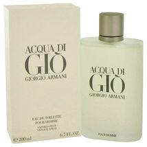 Giorgio Armani Acqua Di Gio Pour Homme Cologne 6.7 Oz Eau De Toilette Spray image 4