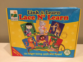Lacing Cards Link & Learn Puzzle Lace N Learn The Learning Journey - $6.81