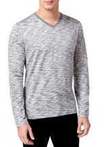 Alfani Men's Space Dyed Basic T-Shirt Grey Small - $19.80