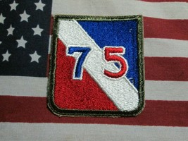 WWII US ARMY 75TH INFANTRY DIVISION COLOR SSI PATCH ORIGINAL 1945 MFG - $7.00