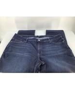 Lee Riders Women18MJeans Dark Blue Modern Fit Skinny Stretch Whiskered Zip - $14.01